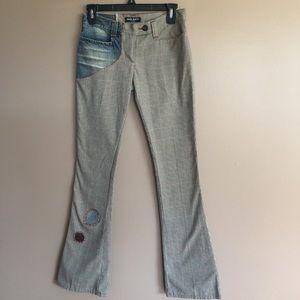 Miss Sixty denim &retro plaid patchwork pant